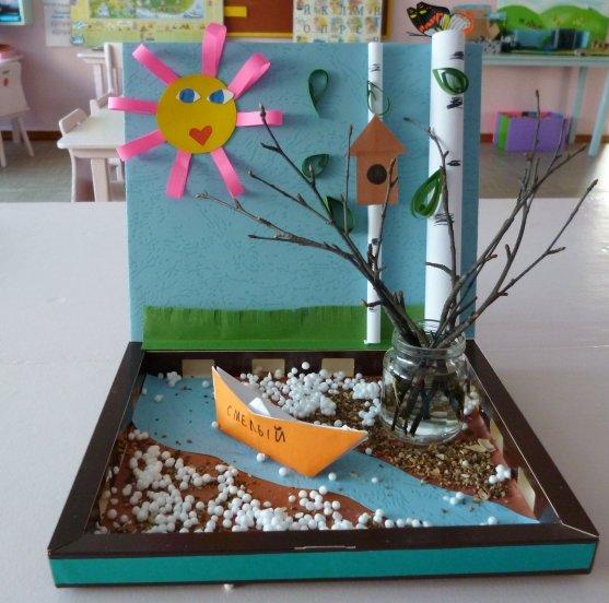 Поделки в детский сад на тему весны