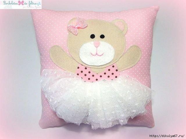 Подушка декоративная своими руками детская