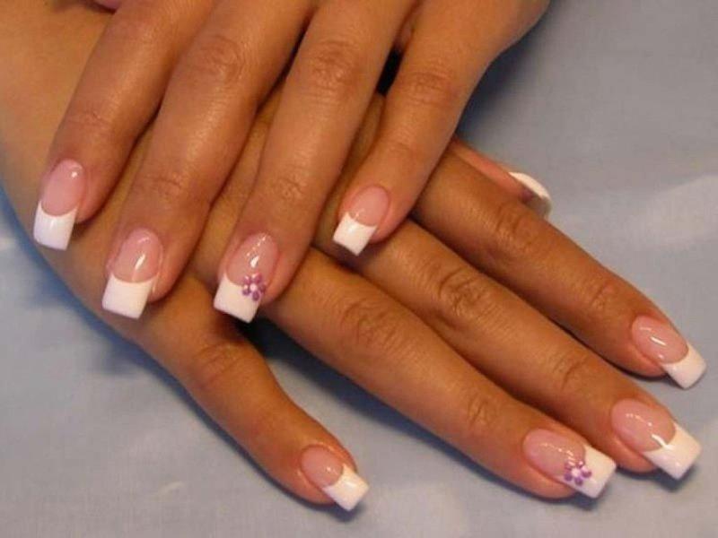 Ногти французский маникюр квадратные ногти фото