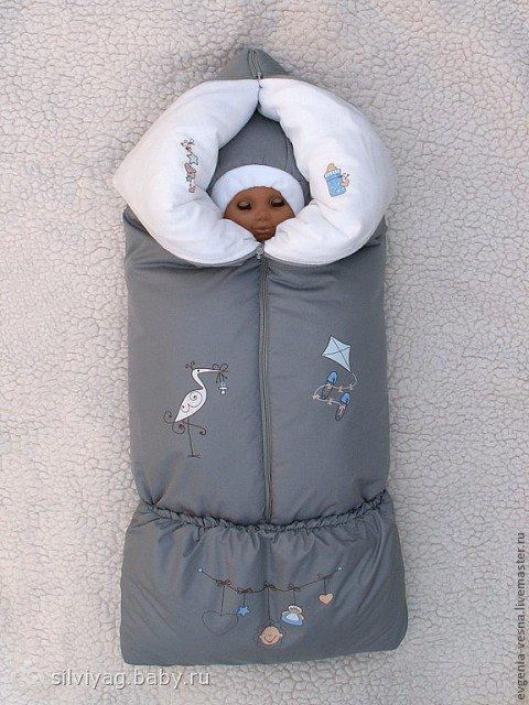 Как сшить зимние конверты для новорожденных на выписку 877