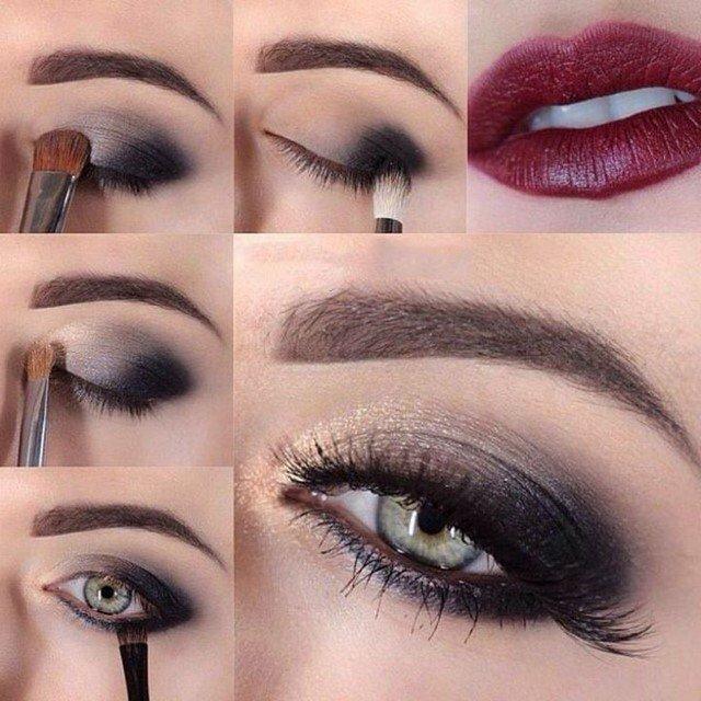 Как сделать красивый вечерний макияж в домашних условиях