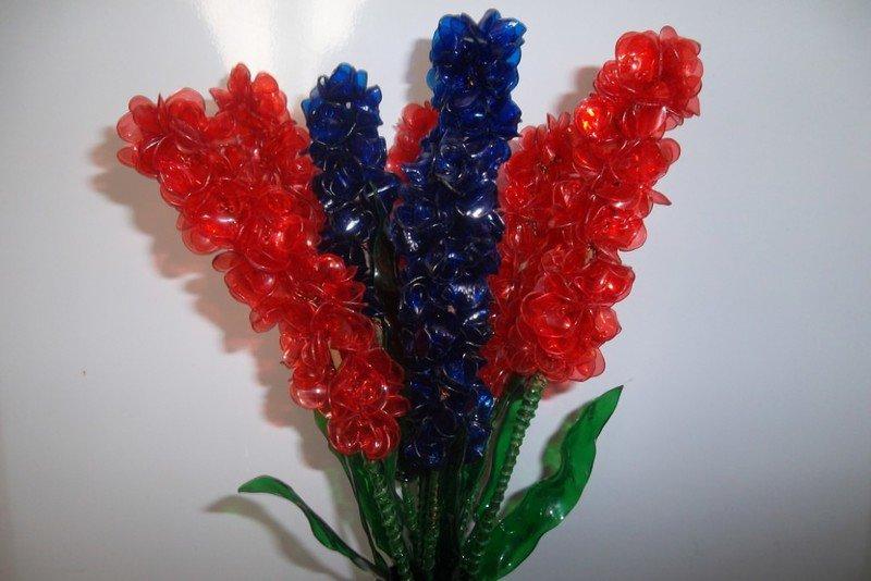 Цветок из пластиковых бутылок своими руками мастер класс 88