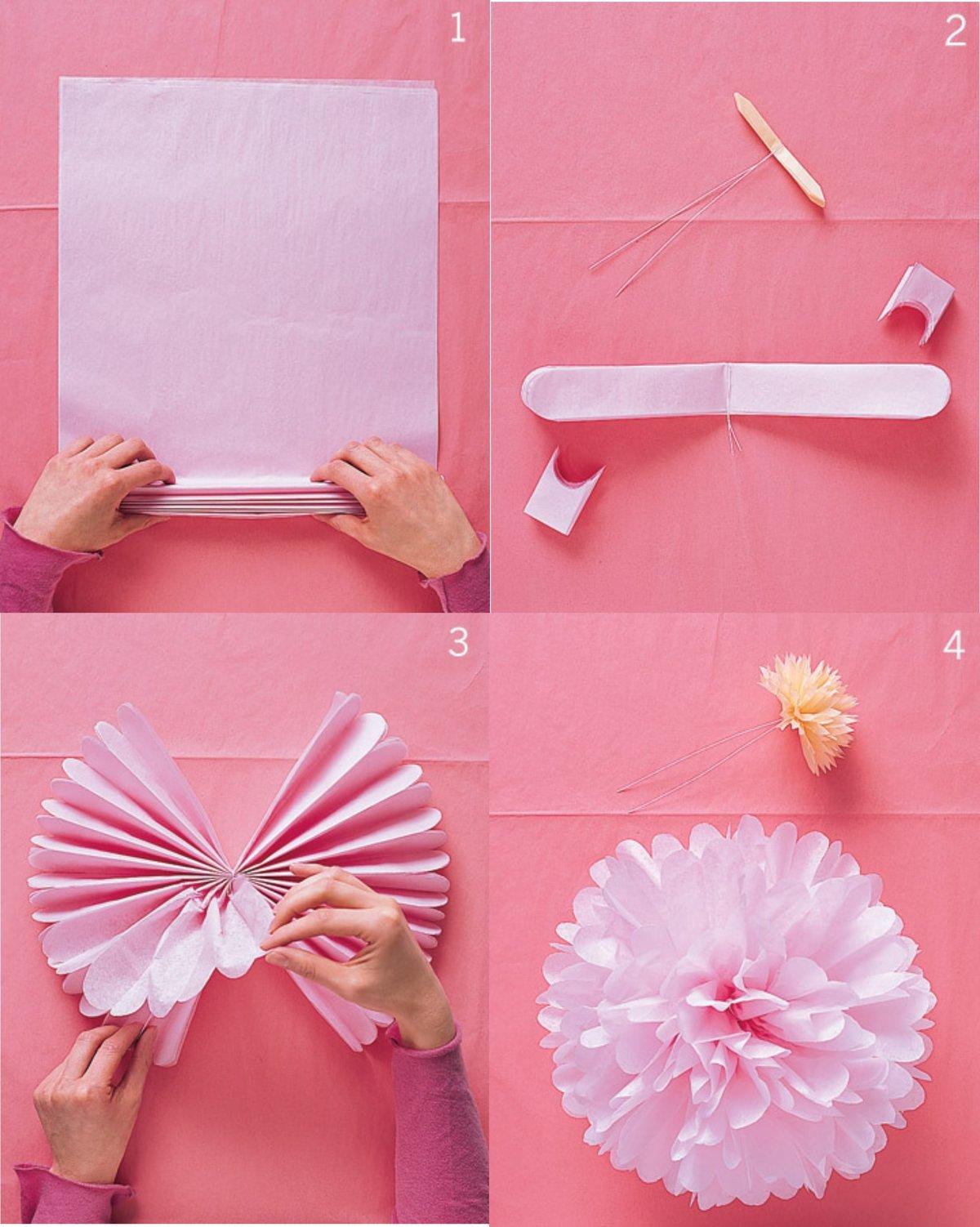 Украшения на день рождения из бумаги своими руками для девочки 100