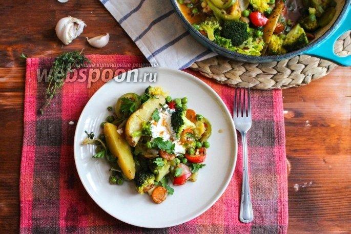 Овощное рагу с брокколи рецепт с пошагово