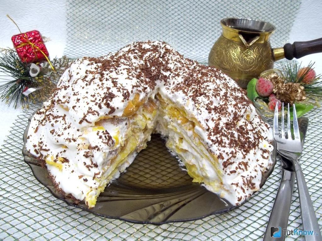 Торт из заварного теста рецепт