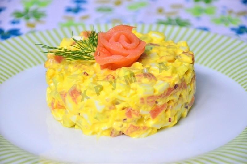 Салат с красной рыбой рецепты с простые