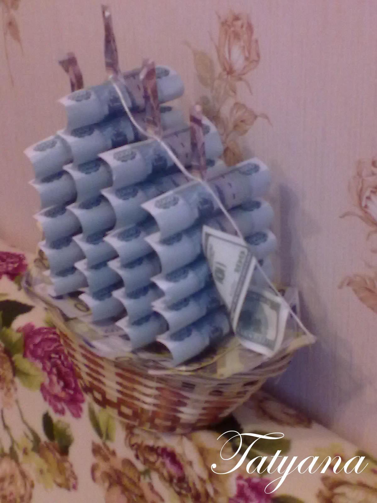Подарок на юбилей своими руками идеи фото интересный из денег
