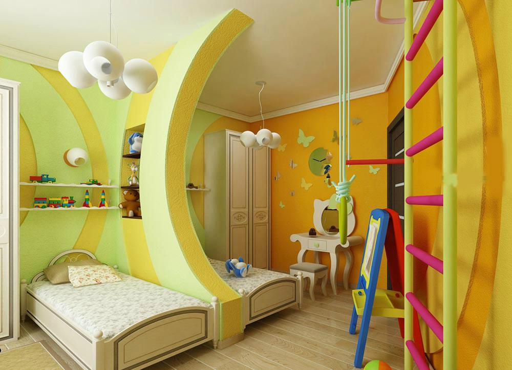 Ремонт в детской для разнополых детей своими руками 88