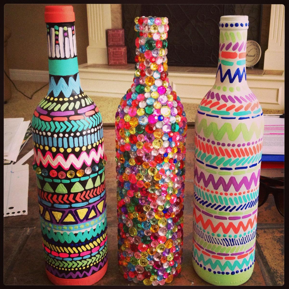 Декор вазы из бутылок своими руками фото
