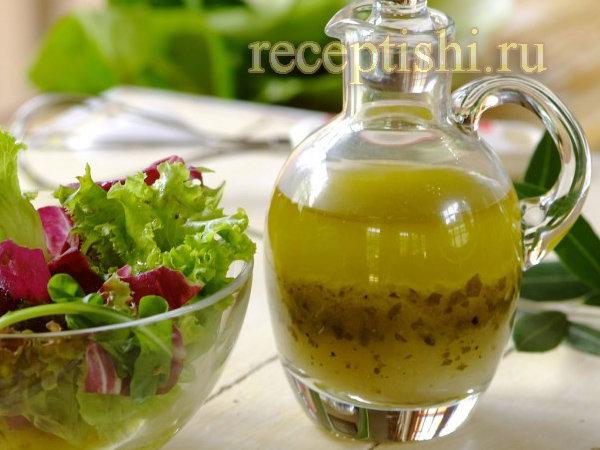 Заправка для салата с бальзамическим уксусом и оливковым