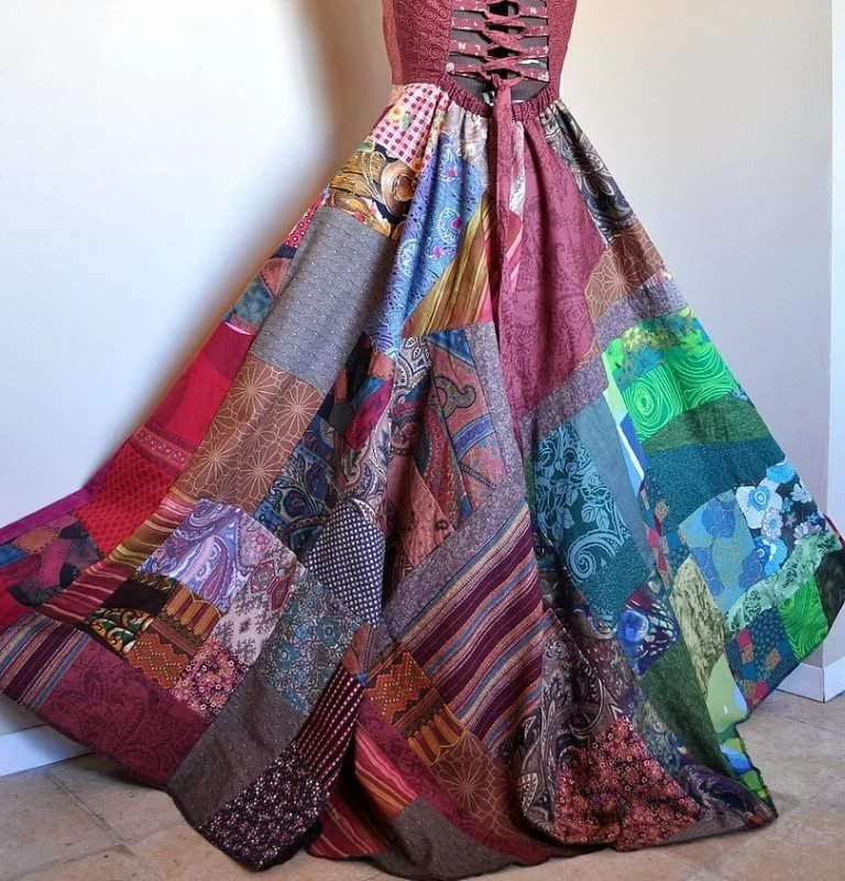 Пэчворк юбка своими руками 356