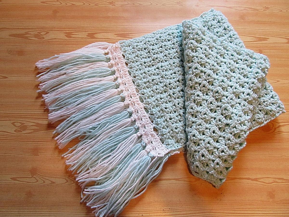 Вязание крючком шарфа как 44