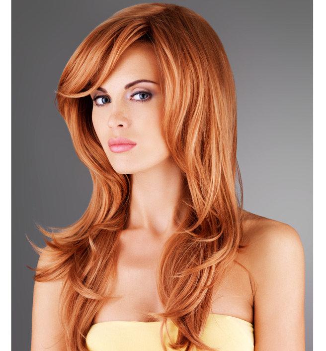 Укладка для длинных рыжих волос 137