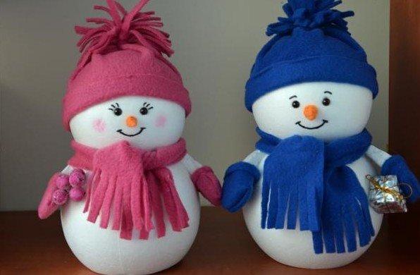 Новогодний поделки своими руками снеговик