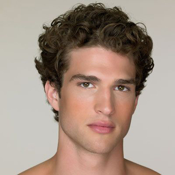 Мужские прически вьющихся волос