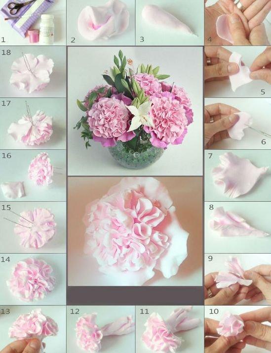 Как сделать цветок из глины полимерной