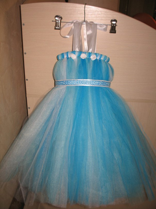 Платье из фатина детское своими руками