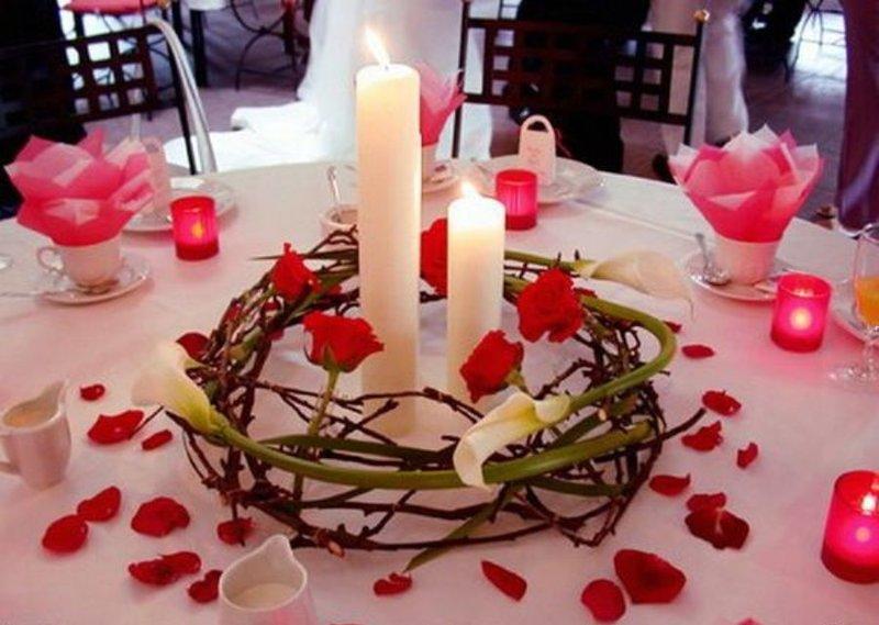 Романтический ужин как все украсить