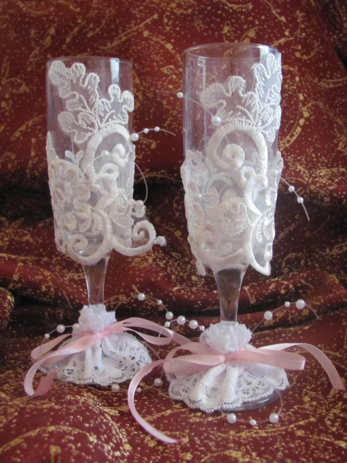 Декор бокалов с пошаговым фото