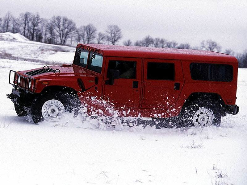 красный автомобиль джип HUMMER H1  № 344719 бесплатно