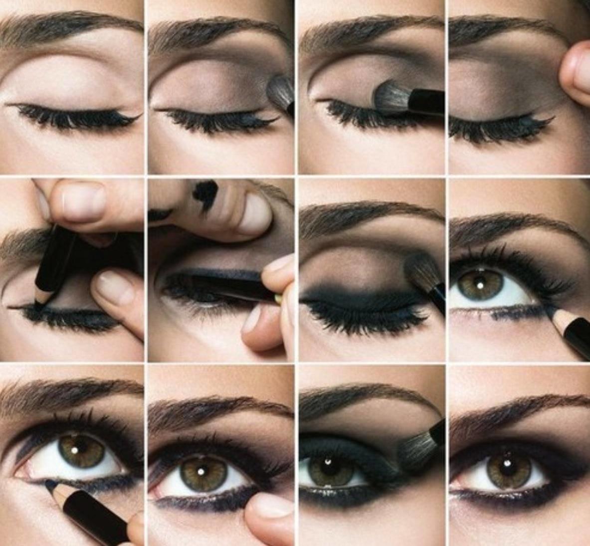 Макияж для темно карих глаз пошаговое фото
