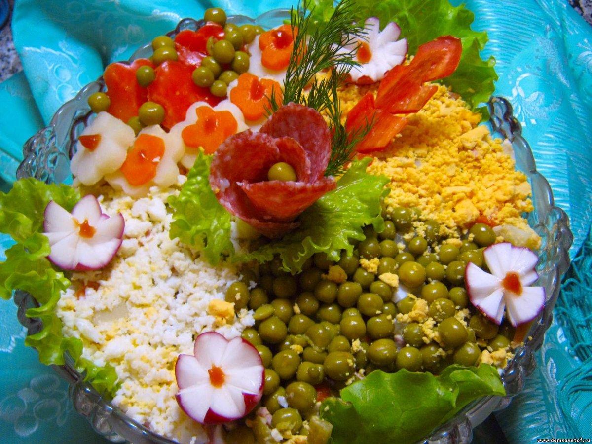 Красивые салаты рецепты с для дня рождения