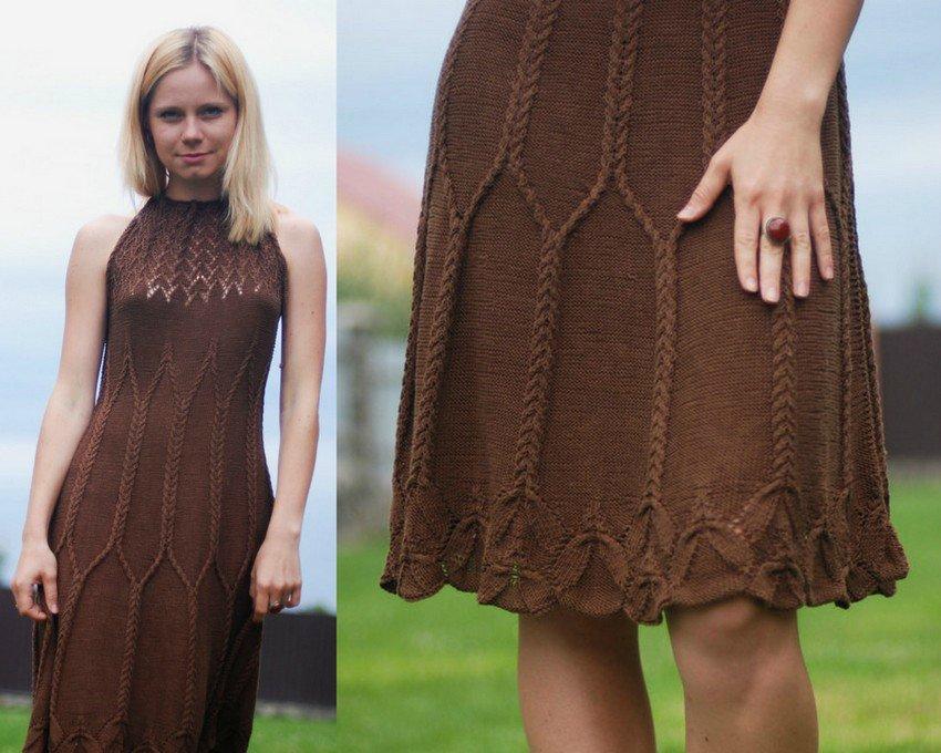 Вязание для женщин платье 3