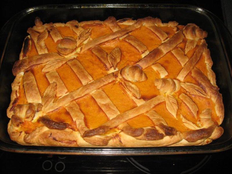 Пирог на дрожжевом тесте рецепт с тыквой
