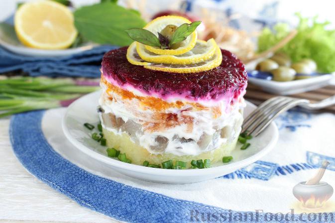 Пошаговая салат сельдь под шубой