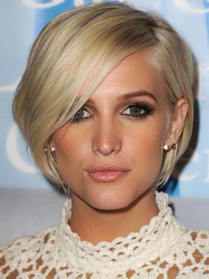Короткое каре блондинки фото