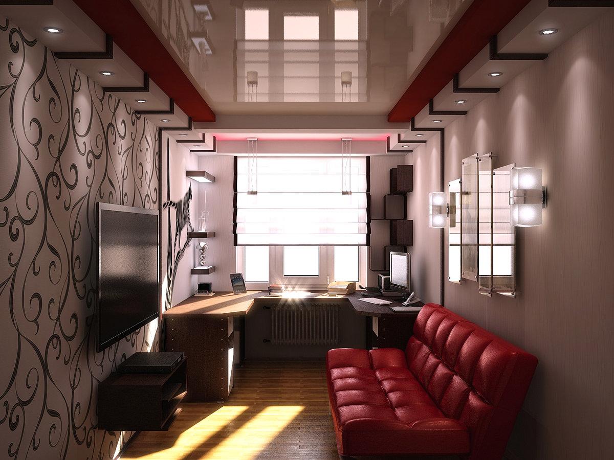 Зал дизайн три комнаты