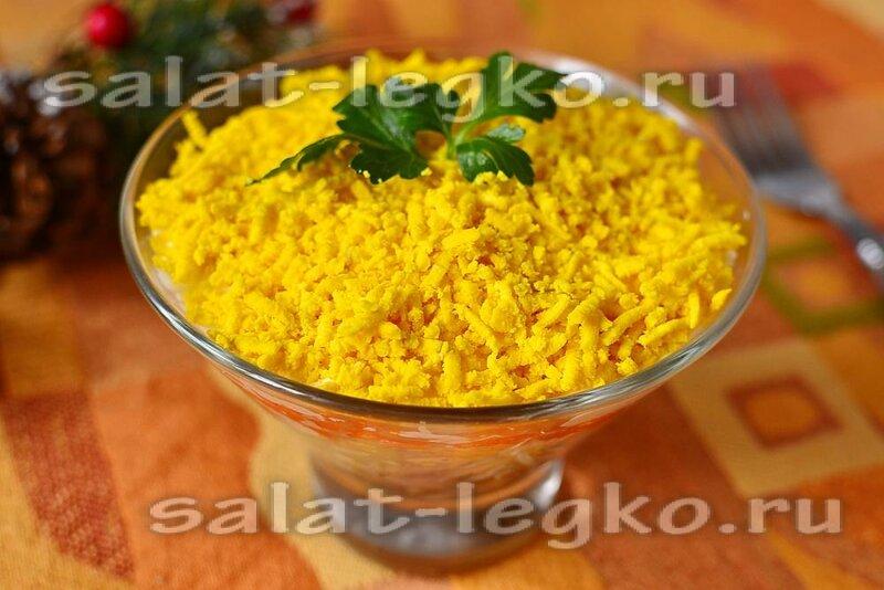 Салат мимоза с треской рецепт
