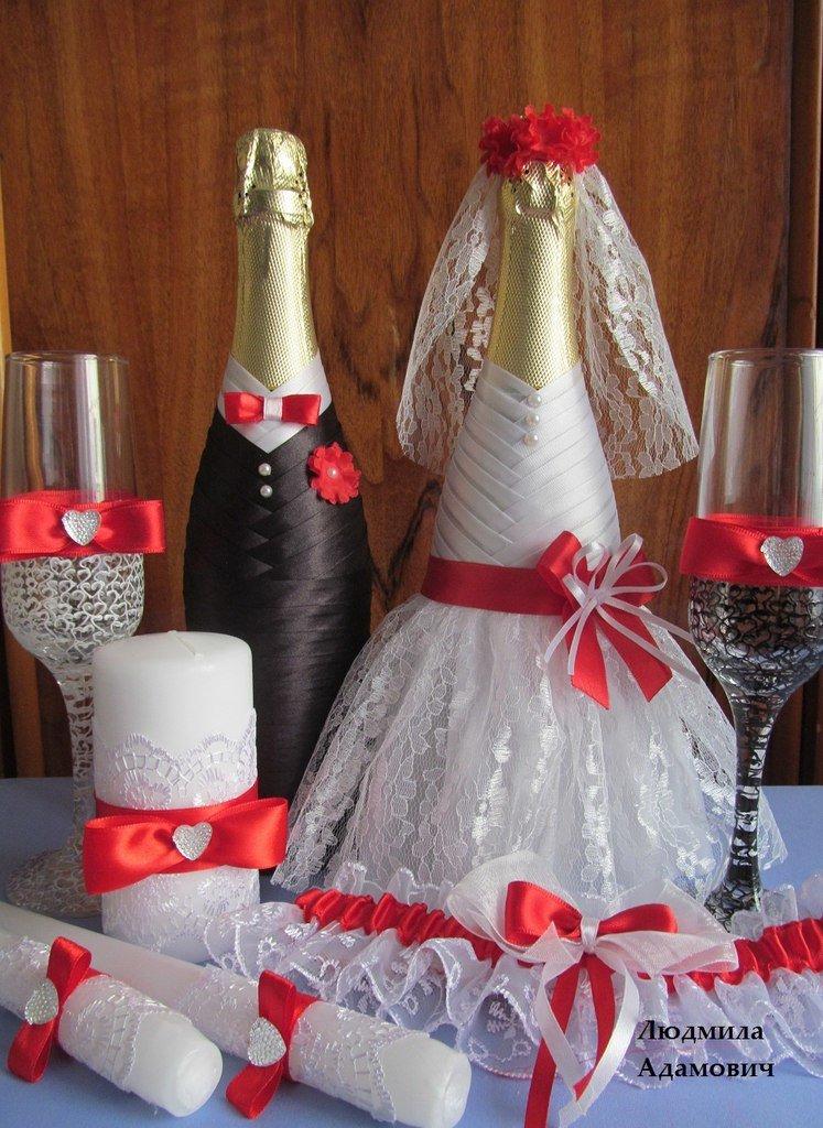 Свадьба украсить шампанское своими руками