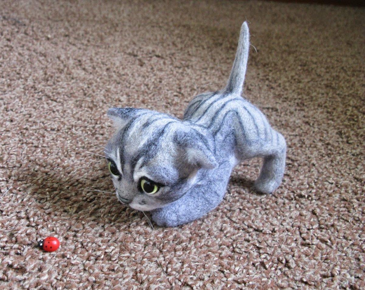 Как сделать кота-валяние