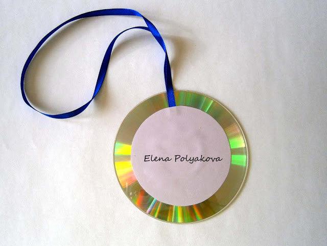 Сделать медаль своими руками из дисков