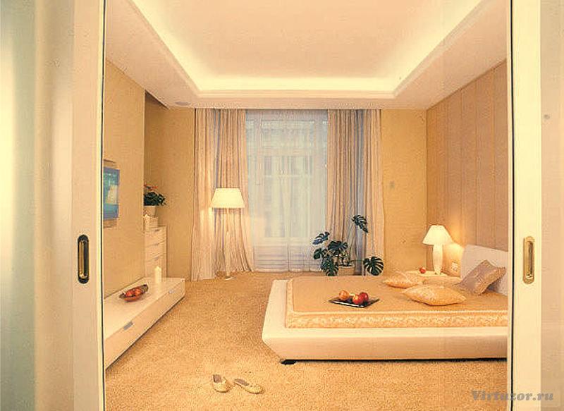 Спальня дизайн 18 квм