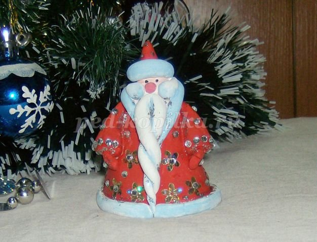 Дед мороз своими руками из теста соленого