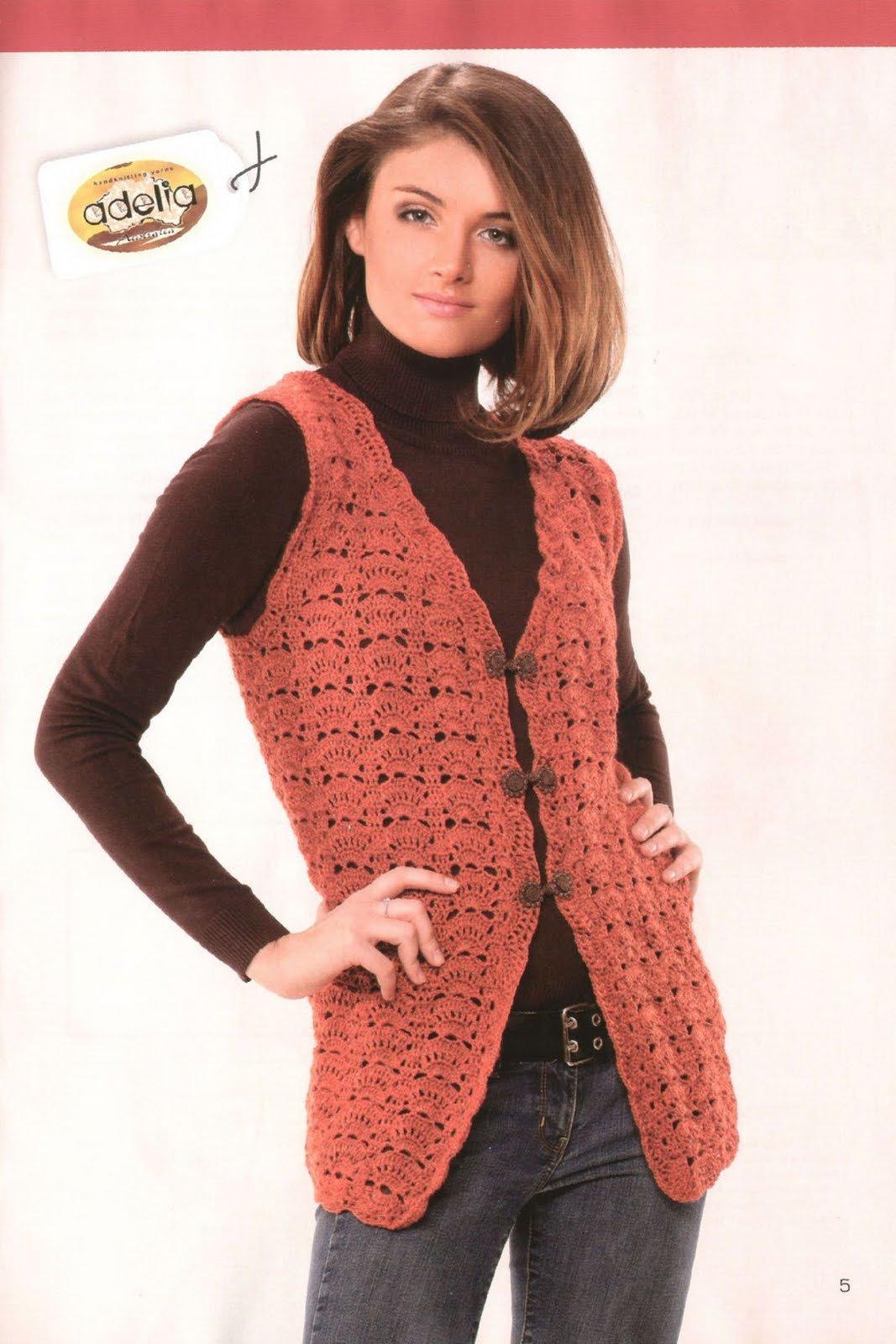 Вязание ажурных безрукавок для женщин