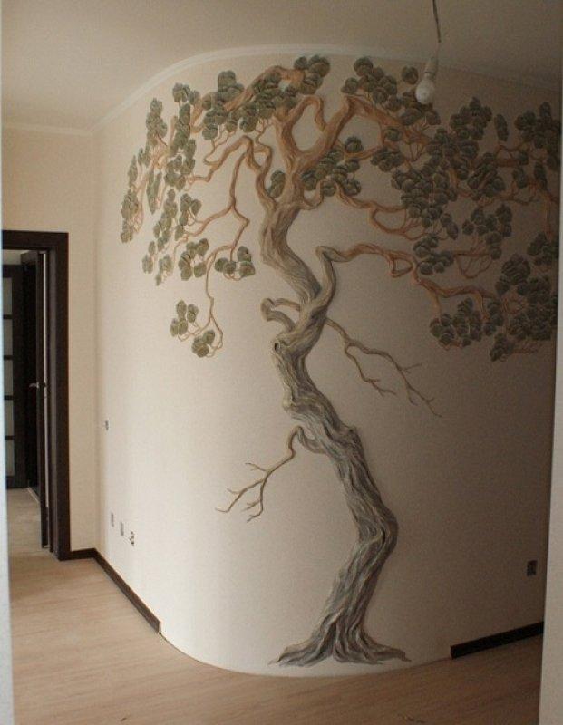 Лепка дерева на стене мастер класс