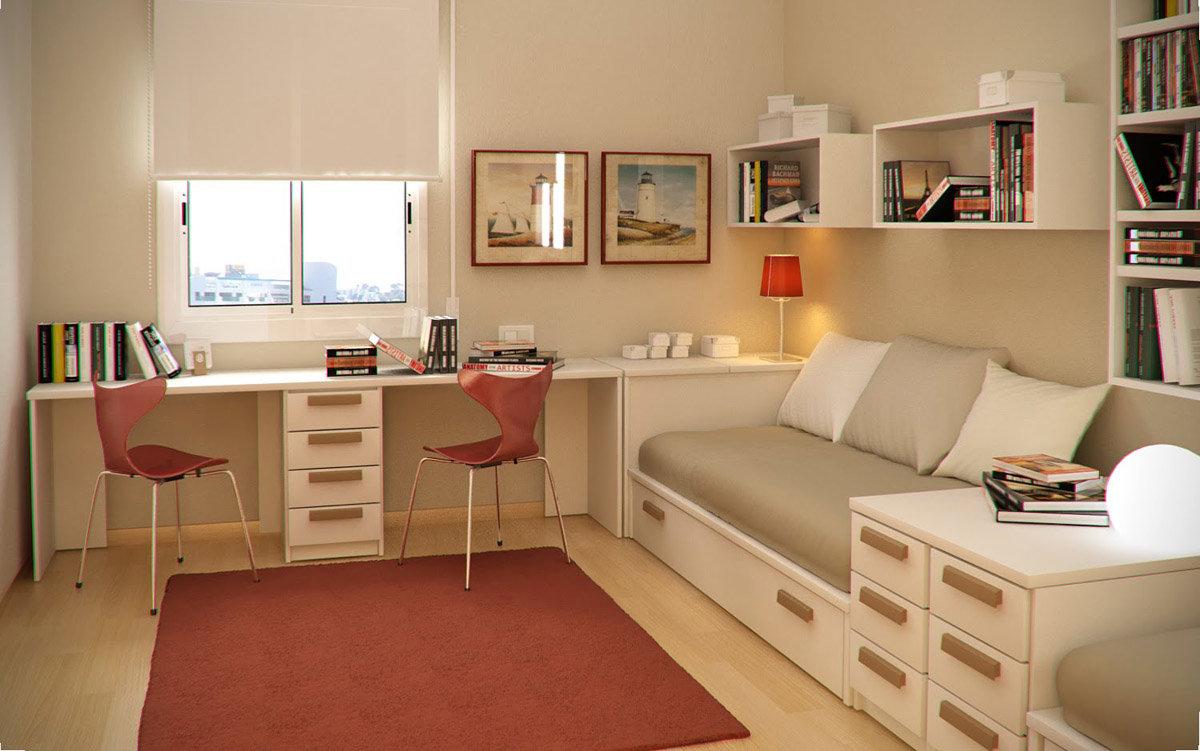 Комната с двумя окнами для девушки дизайн фото