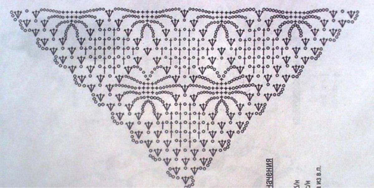 Вязание крючком паучок для шали 434