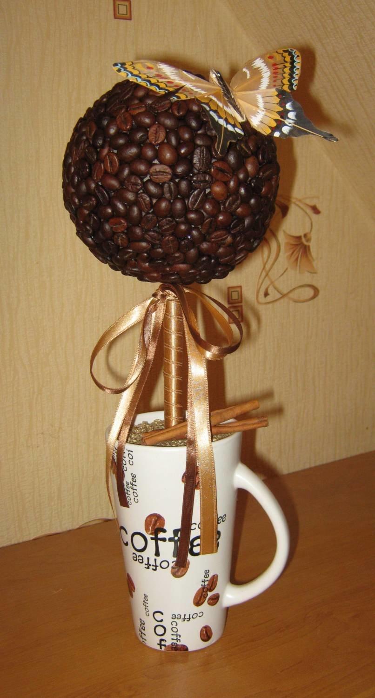 Топиарий из кофе : фото своими руками, кофейное дерево мастер класс, как 75