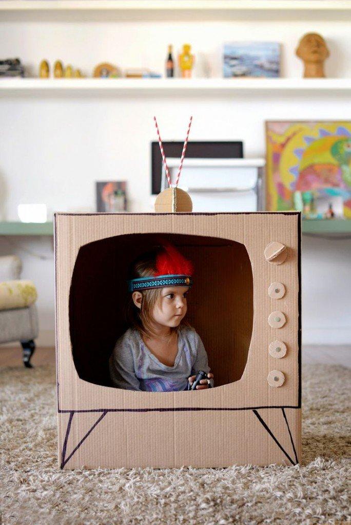 Дети как сделать из коробки 380