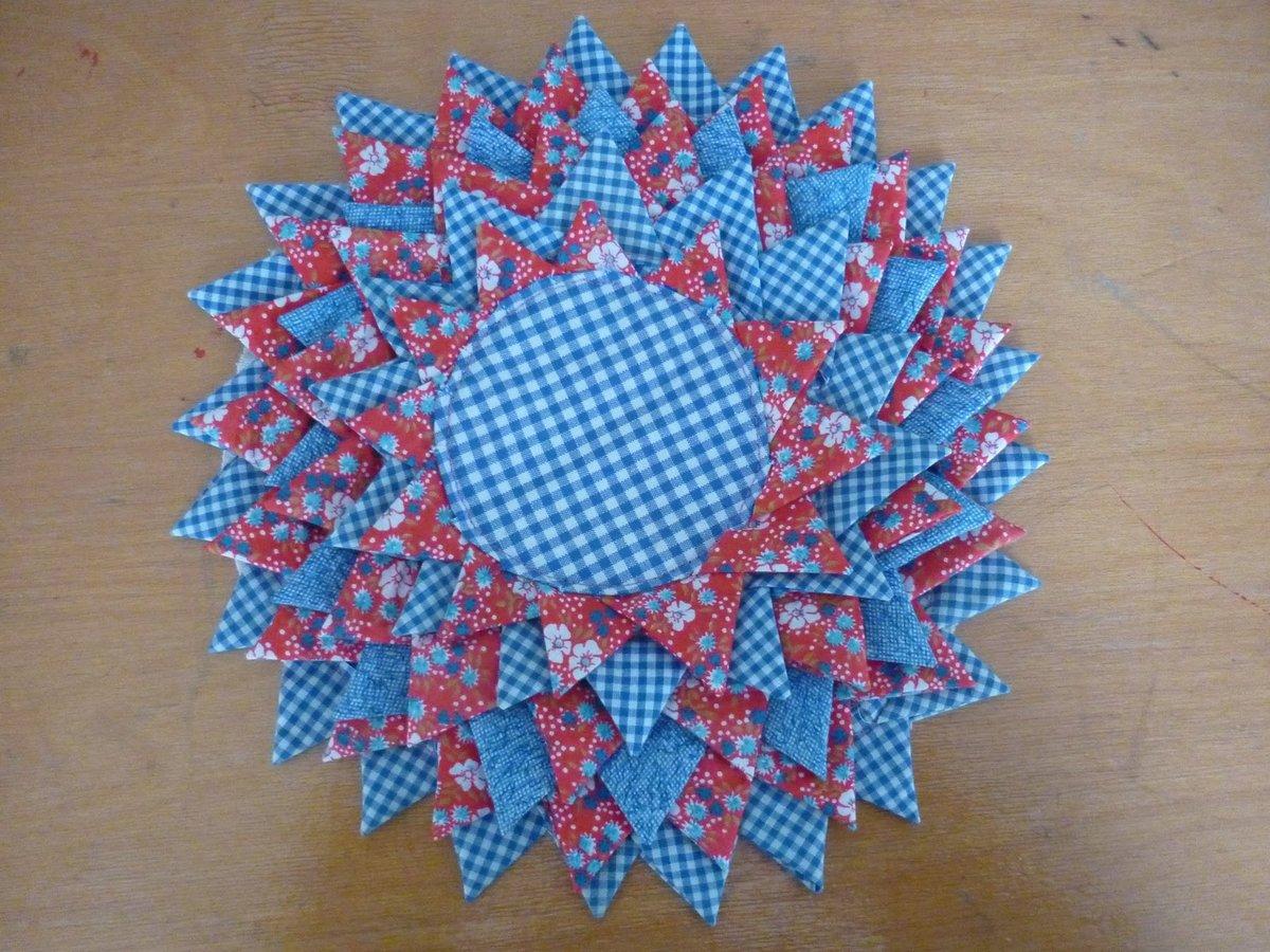 Коврик из треугольников своими руками 356