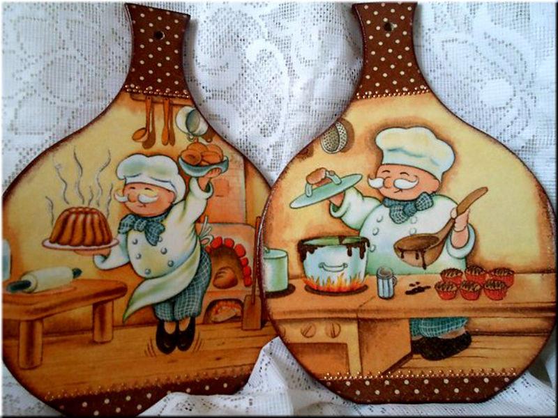 Рисунки для кухонных досточек