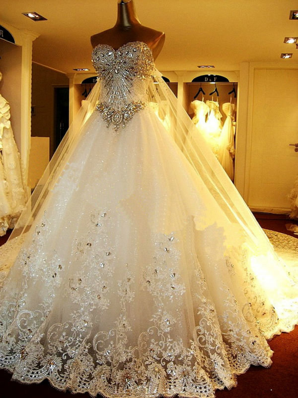 Свадебные платья самые красивые пышные