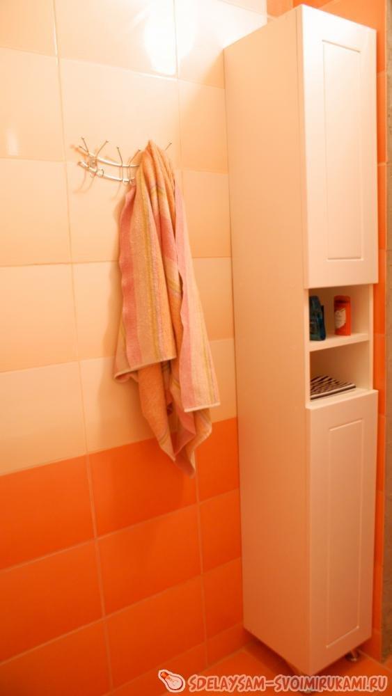 Напольный шкаф в ванную своими руками 797