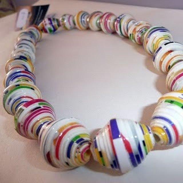 Ожерелье из бумаги для детей