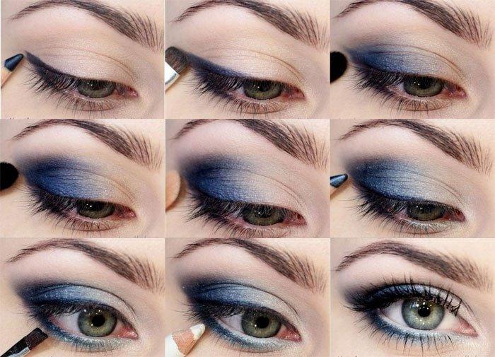 Дневной макияж для серых глаз пошаговое фото в домашних условиях
