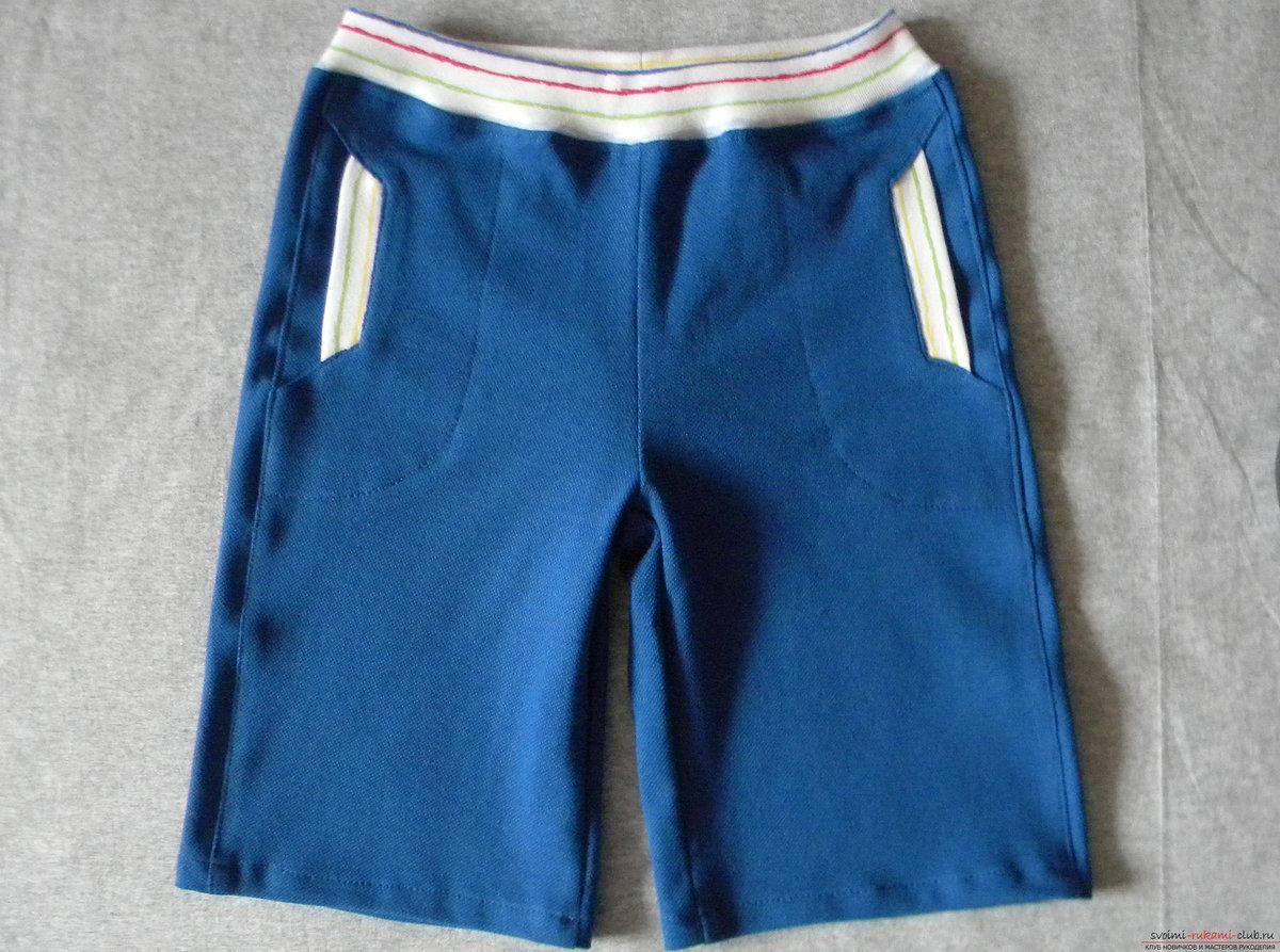 Как сшить шорты с накладными карманами XL Мастер-классы 90